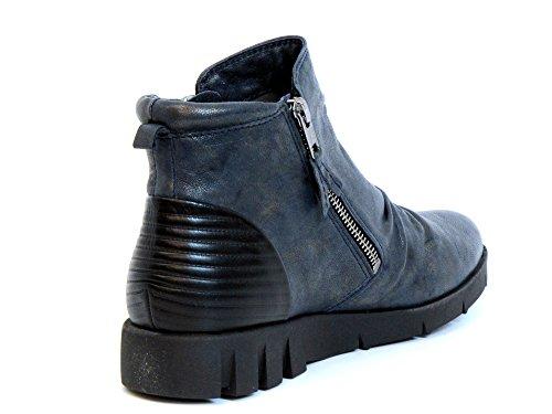 Blu schwarz 94 Donne Softwaves Blu 6 Boots Caviglia 05 Pn18z
