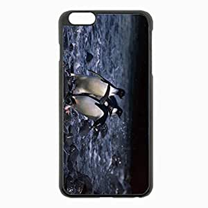iPhone 6 Plus Black Hardshell Case 5.5inch - penguins water walking bird Desin Images Protector Back Cover