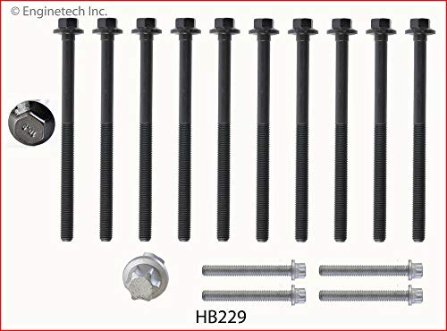 Enginetech HB229 Head Bolt GM 2.2L ECOTEC DOHC 1 Set Required