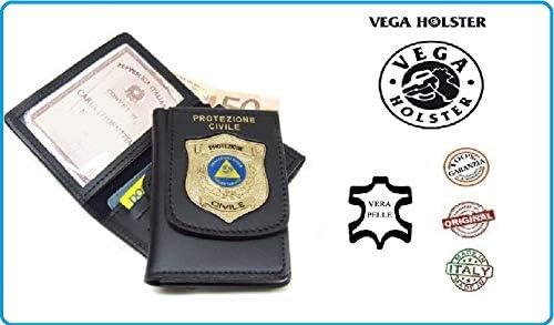 Cartera portadocumentos con placa de protección civil voluntariado nacional 1WD115 Vega Holster Italia Art.1WD115NEW: Amazon.es: Equipaje