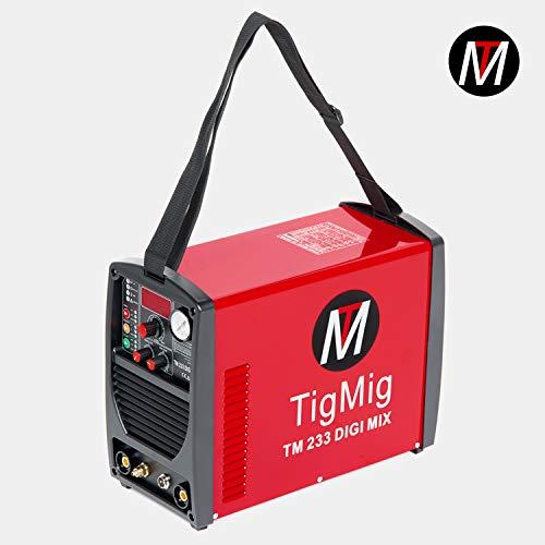 TIGMIG - TM233MIX - Soldador Inverter 3 en 1, multiproceso de TIG, cortador de plasma, soldador de MMA, tecnología IGBT: Amazon.es: Bricolaje y herramientas