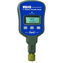 Supco VG64S Vacuum Gauge with Single Port, Digital Display, 0-12000 Microns Range, 10-Percent Accuracy, 1/4-Inch Male Flare Fitting Connection