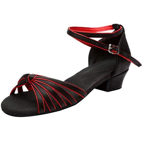 Ballroom Chaussures Pour Salsa Mode Tango Sexy Latine Danse Femmes De Zahuihuim talons Les Red Bas Ew8UXqq