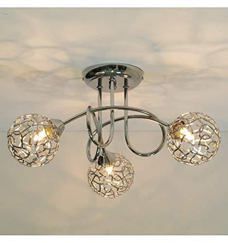 Kosilum – plafondlamp design 3 bollen Aphyse – licht warmwit verlichting woonkamer slaapkamer keuken hal – 3 x 25 W – G9…