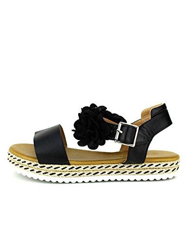 Chaussures Catisa Sandale Noire Noir Mod's Cendriyon Femme IPnFRxn