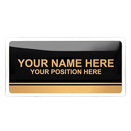 Aspire Customized Home Address Sign, House Hotel Office Number Sign, Personalized Name Plate with Rounded Corners-Black-5.9'' L x 11.8'' W by Aspire