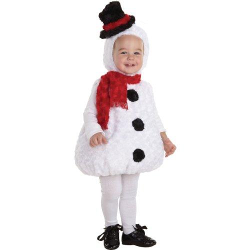 Baby Snowman Costumes (Underwraps Baby's Snowman Bally, White/Black/Red, Medium)