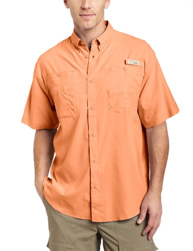 Columbia Men's Tamiami II Short Sleeve Shirt, Bright Peach, Small