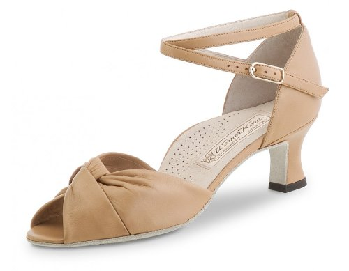 Werner Kern Women's Ruth - 2'' (5.0 cm) Latin Heel, Comfort Line, Beige Leather, 6.5 M US (3.5 UK)