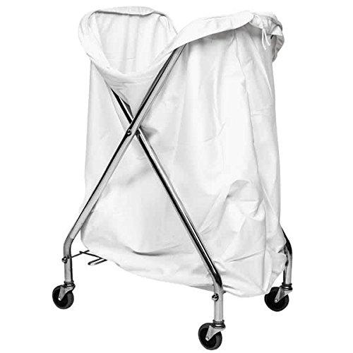 Commercial Mobile Hamper Stand and Hamper Bag, Zinc Plated, Pack of 4