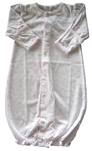 Price comparison product image Kissy Kissy Baby-Girls Infant Ele-fun Print Convertible Gown-White With Pink-Newborn
