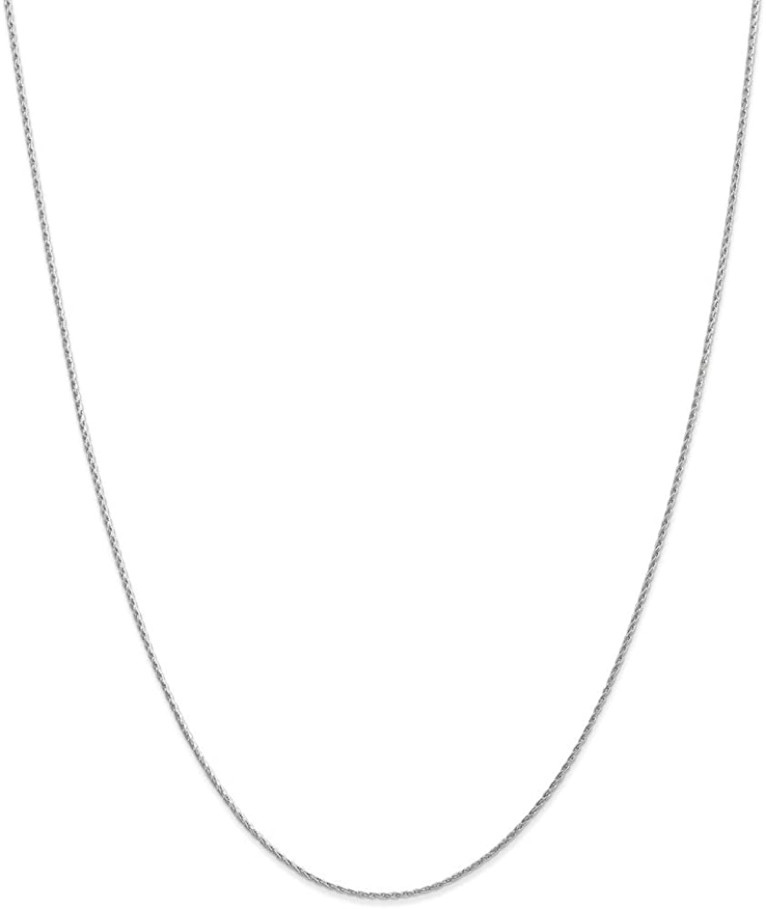 14K White Gold 1.00mm Parisian Wheat Chain Necklace