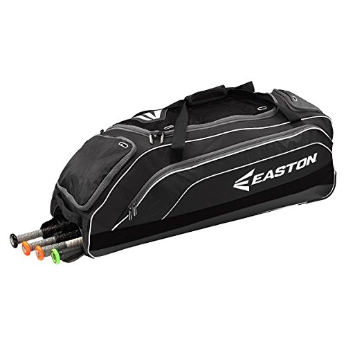 Easton E700W Wheeled Bag, Black, 36 x 13 x 13-Inch (Easton Wheeled Baseball Bag)