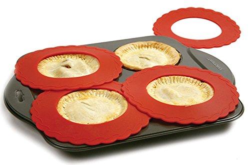 Set of 4 Mini Silicone Crust Shields - Protect Edge of 5