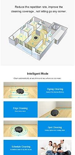 TeRIydF Aspirateur Robot, Navigation gyroscopique, Nettoyage à Sec en Zigzag, Plan Intelligent