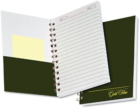 Ampad Gold Fibre Classic Series Personal Notebook Medium Ruling Page and Date Headings with Pocket Cover 100 Sheets 20-801R