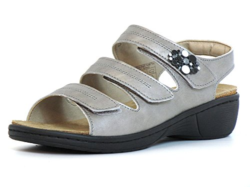 platin 4321149 Romika Femmes Platin 708 Argenté Sandalettes qpgtwaI