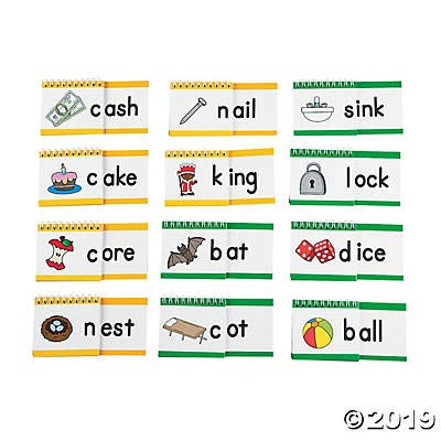 Fun Express Word Family Spiral Flip Books (37 Pieces) Language Teaching Aids: Toys & Games