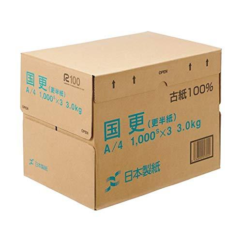 (まとめ)日本製紙 国更(更紙 わら半紙)A4T目 48.4g/m2 KNZN-A4 1箱(3000枚:1000枚×3冊) 【×3セット】 AV デジモノ パソコン 周辺機器 用紙 その他の用紙 14067381 [並行輸入品] B07L35FCYY