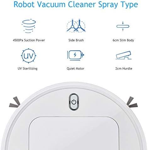 Phy Aspirateur Robot Nettoyeur de pulvérisation Automatique, Ultra-Silencieux, Nettoyage de Tapis, Un Robot Rechargeable USB Balayage (Blanc)