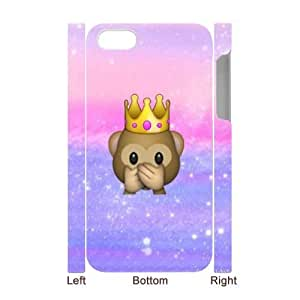 Customized Durable Case for iPhone 5 5s 3D, Cute Emoji Phone Case - HL-2972683