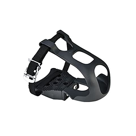 Exustar Clipless Adapter Pedal with Toe Clips & Straps Cleats Sold (Bike Cleat Adaptor)