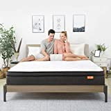Sweetnight SN-M008-10-Q Queen Size Mattress in a Box,10 Inch Plush Pillow Top Spring Hybrid Mattress, Gel Memory Foam for Sleep Cool, Motion Isolating Individually Wrapped Coils, Twilight