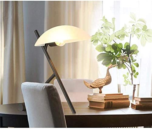 WLA Modern, Nordic, Minimalist, Industrial Table Lamp, Night Light With Arched Lampshade, Iron Body For Bedroom, Study, Decoration, Gift Protect Eyes