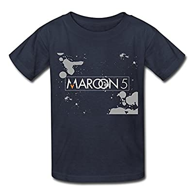 SY Pop Band Maroon 5 Boys & Girls Cotton T Shirt Navy