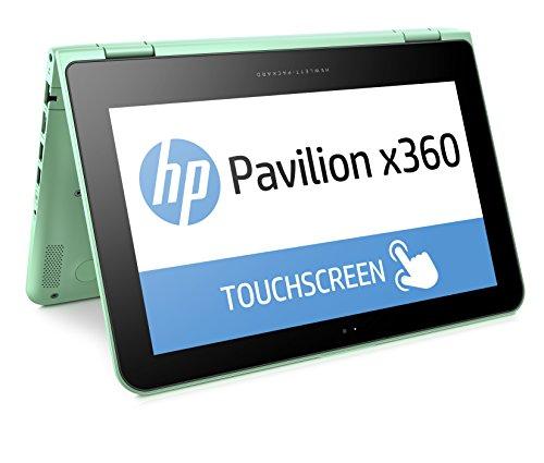 HP Pavilion x360 11-k103ng 29,5cm (11,6 Zoll HD) Convertible Notebook (Intel Celeron N3050, 4 GB RAM, 500 GB HDD, Windows 10) türkis