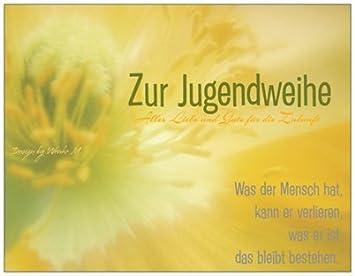 karte jugendweihe Jugendweihekarte Jugendweihe Blume gelb Glückwunschkarte