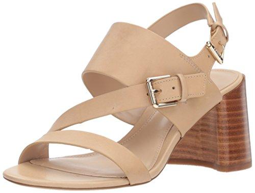 Lauren Ralph Lauren Women's florin Heeled Sandal, Beige, 5.5 B US