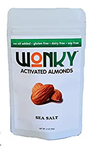 Wonky Sea Salt Activated Almonds - Case of 8 - 2 ounce bags