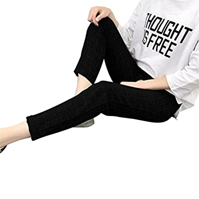 Pervobs Women Pants, Clearance! Women Casual LoosePlaid Elastic Waist Lace up Plus Size Sports Full Length Pants Trousers by Pervobs