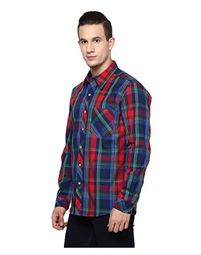 Yepme - Chemise à carreaux Premium - Rouge & Bleu