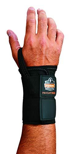 (Ergodyne ProFlex 4010 Double-Strap Left Wrist Support, Black,)