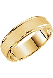 10k Yellow Gold 6.0 mm Satin Finish Lightweight Comfort Fit Wedding Band