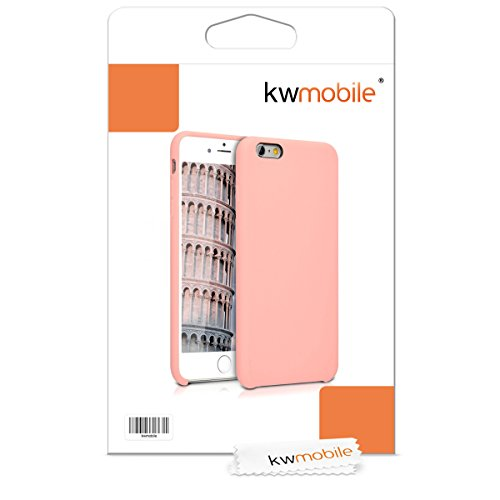 kwmobile TPU Silicone Case Compatible with Apple iPhone 6 Plus / 6S Plus - Soft Flexible Rubber Protective Cover - Rose Gold