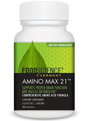 FoodScience of Vermont Amino Max 21, Amino Acid Dietary Supplement, 90 CT (Predigested Acids Amino)