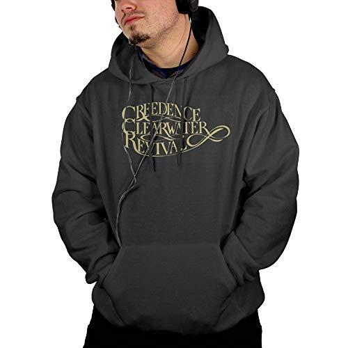 Givmegjvnd Men's Creedence Clearwater Revival Band Logo Hoodie Sweatshirt