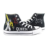 Freddie Mercury Sneakers Chuck Taylor High Top Custom Painted Shoes Custom Painted Canvas Shoes High Top Sneakers Custom Canvas Shoes Anime Painted Sneakers Personalized Canvas Shoes Custom Painted Shoes Free Shipping