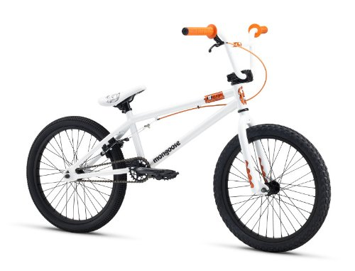 Mongoose M13LOG201 Boys Logo Freestyle Bike, White, 20