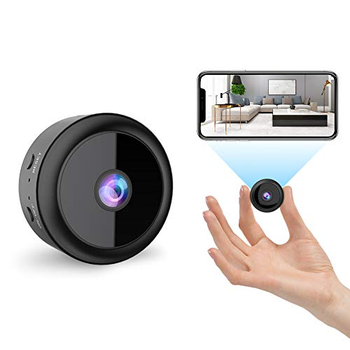 RIRGI Koiteck Camaras espia Oculta, Camaras Espia WiFi 1080P HD, con IR Vision Nocturna Detector de Movimiento, Grabadora de Video, Camaras de Seguridad Pequena para Interior/Exterior (Negro)
