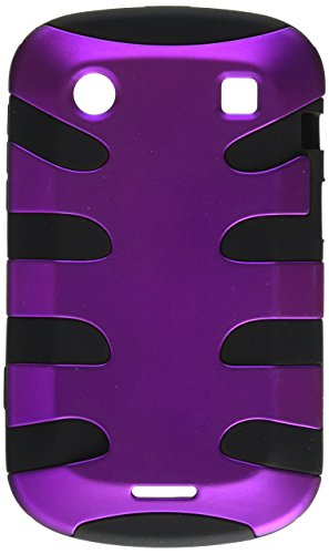 MyBat BB9930HPCSK041NP Titanium Fishbone Protective Case for BlackBerry Bold 9930-1 Pack - Retail Packaging - Purple/Black