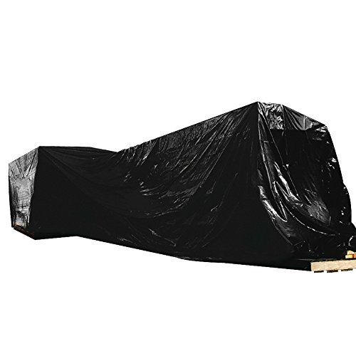 """BOX USA BCF624B Poly Sheeting, 6 mil, 24' x 100"""", Black"""