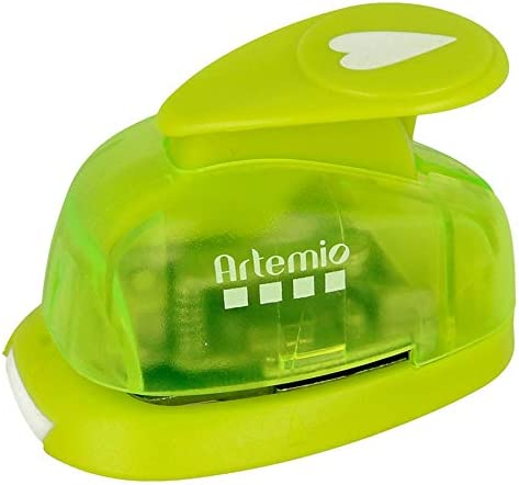 Green Artemio 1.6 cm Small  Heart Number 1 Lever Punch
