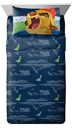 Disney Junior Lion Guard All for One 3 Piece Twin Sheet - Comforter Twin Authentic Collection