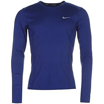 ed22b94e Nike Dri Fit Miler Long Sleeve Top Mens ( Royal, Large ): Amazon.co ...