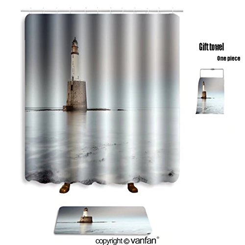 vanfan bath sets with Polyester rugs and shower curtain rattray head lighthouse on the north east coa shower curtains sets bathroom 40 x 72 inches&23.6 x 15.7 inches(Free 1 towel - North East Designer Outlet