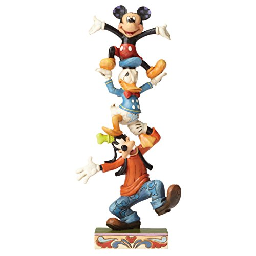Jim Shore Disney Traditions by Enesco Goofy,Donald and Mickey Stacked - Duck Jim Donald Shore